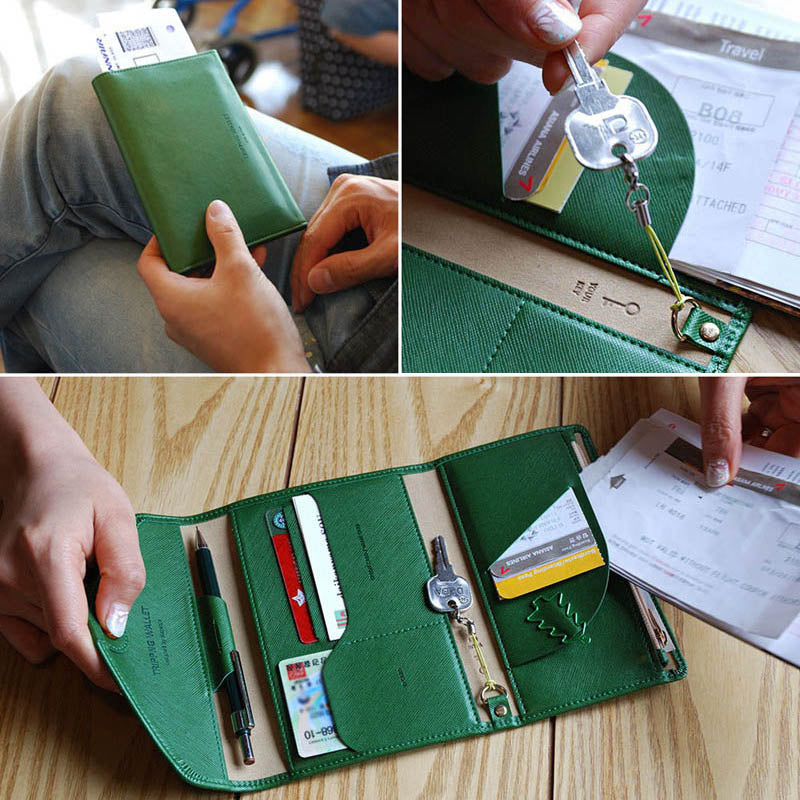 Travel Passport Cover and Document Holder