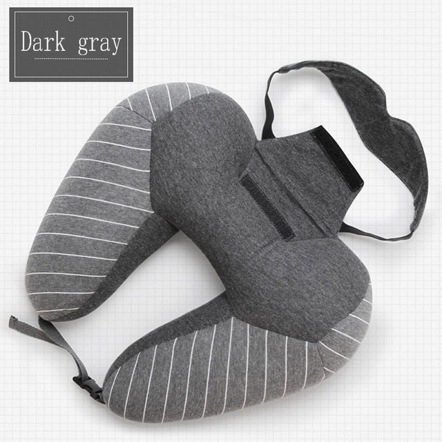 U-shaped Travel Neck Pillow with Eye Mask