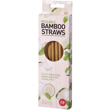 Load image into Gallery viewer, IS Gift Bamboo Reusable Straws - 4 Pack with Brush
