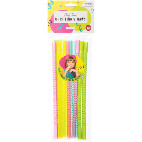 Whistling Reusable Straws - 12 Pack