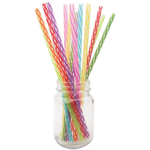 Rainbow Reusable Straws - 24 Pack