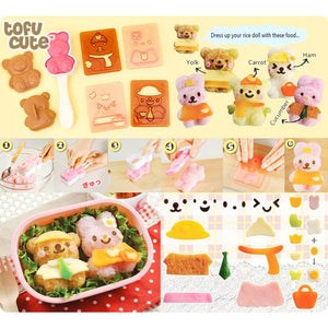 Bear & Bunny Rice Mould Set