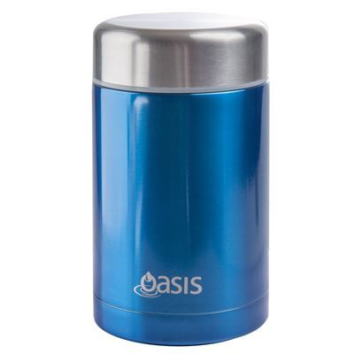 Oasis 450ml Stainless Steel Food Flask - Blue