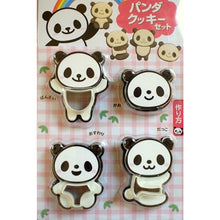 Load image into Gallery viewer, Panda Sandwich Cutter and Stamp Set