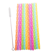 Load image into Gallery viewer, Appetito Rainbow Reusable Straws - 24 Pack
