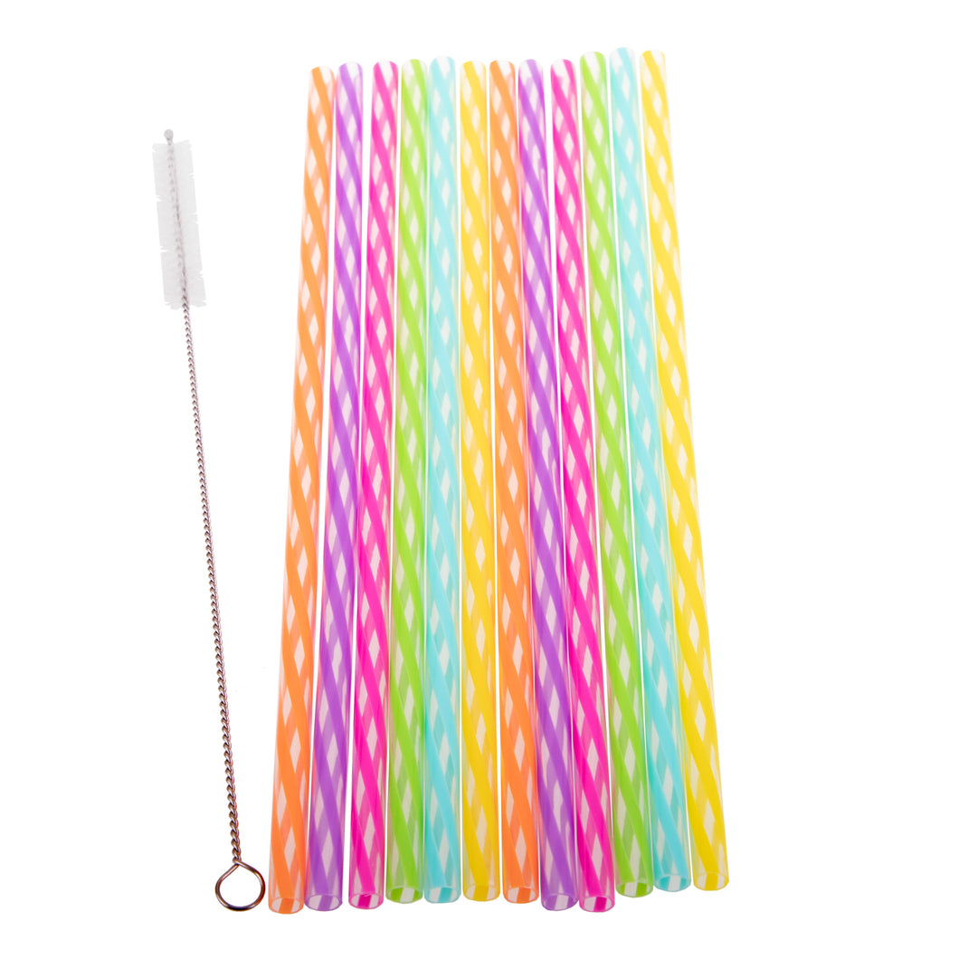 Appetito Rainbow Reusable Straws - 24 Pack