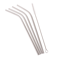 Load image into Gallery viewer, DLine Stainless Steel Reusable Bent Drinking Straws (SINGLE)