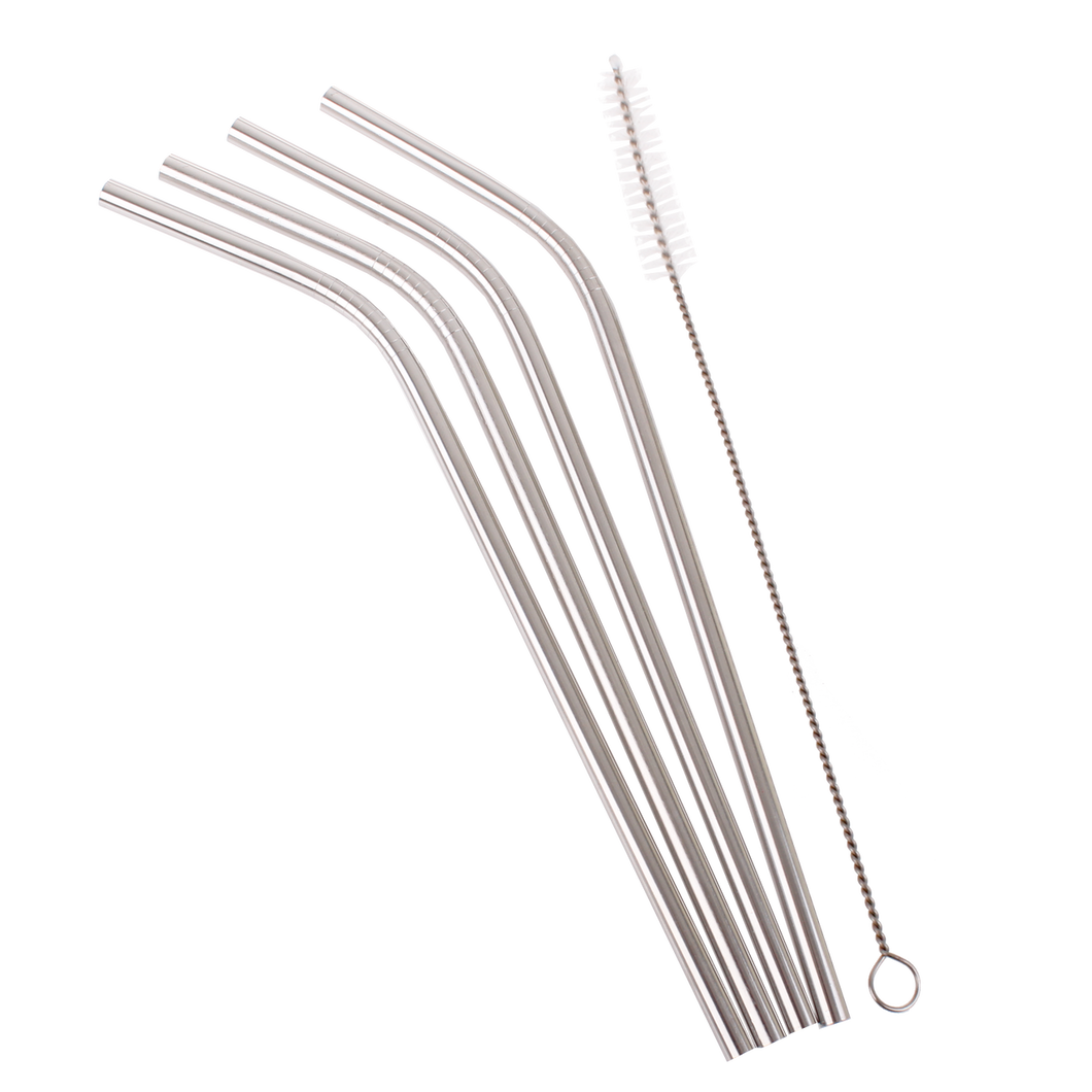 DLine Stainless Steel Reusable Bent Drinking Straws (SINGLE)