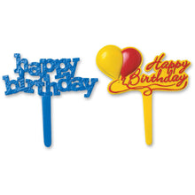 Load image into Gallery viewer, Birthday Food Picks / Cupcake Toppers - 4 Pack