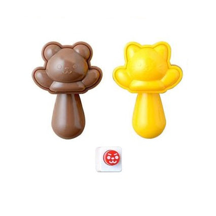 Pop Up Bear & Cat Rice Mould Set