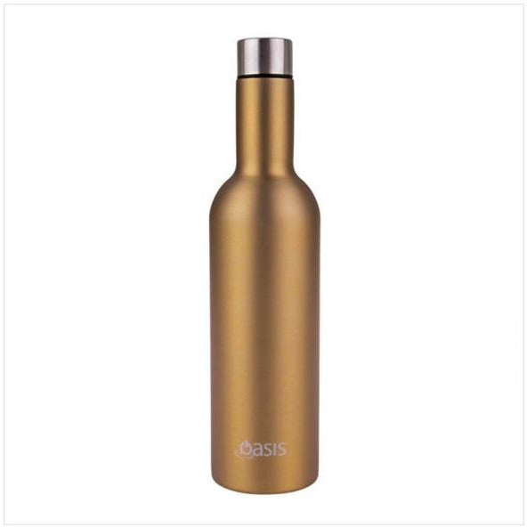 Oasis Stainless Steel Insulated Wine Traveller 750ml - Champagne Gold