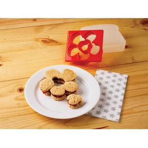 Lady Bug & Flower Sandwich Cutter in Sandwich Box