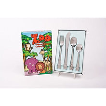Load image into Gallery viewer, Dline 4 Piece Kids Cutlery Set - Zoo