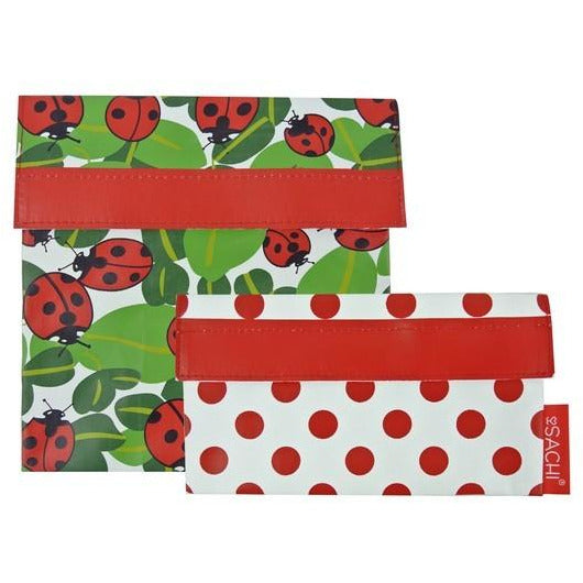 Sachi Reusable Sandwich & Snack Bags - Lady Bug