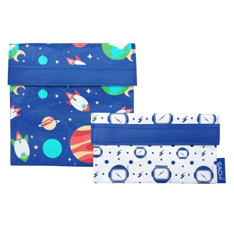 Sachi Reusable Sandwich & Snack Bags - Outer Space