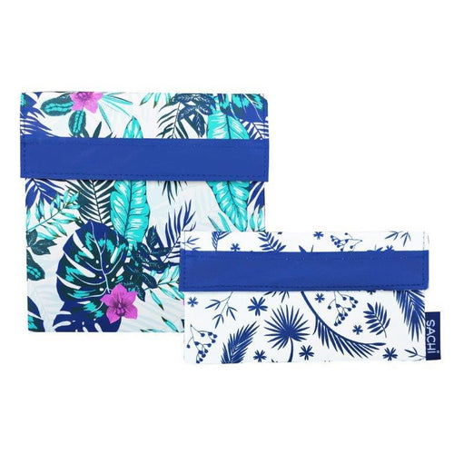 Sachi Reusable Sandwich & Snack Bags - Tropical Paradise