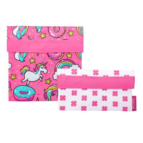Sachi Reusable Sandwich & Snack Bags - Unicorn
