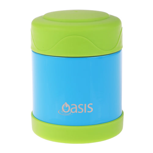 Oasis Kids 300ml Stainless Steel Food Flask - Blue/Green