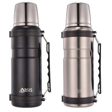 Load image into Gallery viewer, Oasis 1 Litre Stainless Steel Vacuum Flask - Matt Black