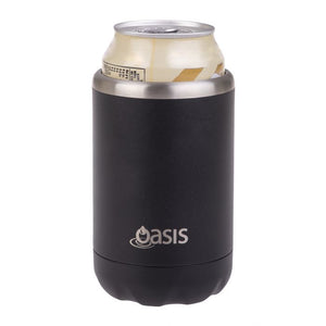 Oasis Stainless Steel Insulated Cooler Can - Black