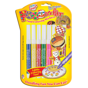 Foodoodler Edible Markers, 8 Assorted Colours