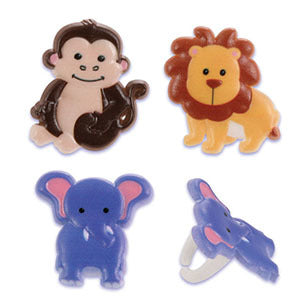 Zoo Animal Food Ring / Cupcake Toppers - 3 Pack