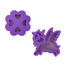 Load image into Gallery viewer, Lunch Punch Sandwich Cutters I Heart Unicorns - 2 Pack