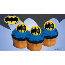 Load image into Gallery viewer, Batman Food Ring / Cupcake Toppers - 4 Pack