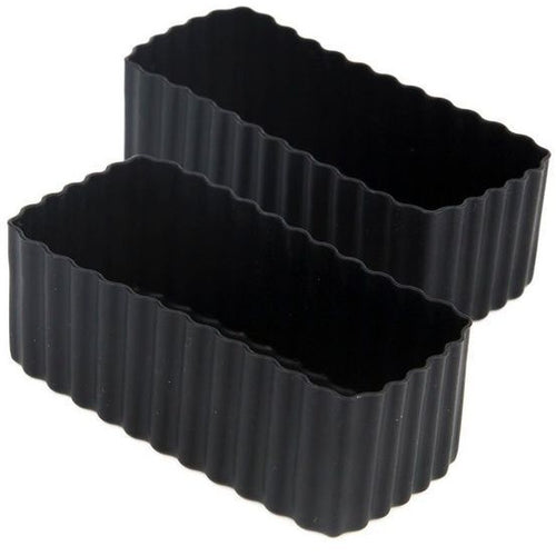 Bento Box Silicone Cups - Rectangle Black