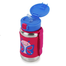 Load image into Gallery viewer, Skip Hop Zoo Stainless Steel Straw Bottle - Butterfly