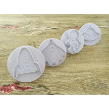 Load image into Gallery viewer, 3D Space Cookie Cutters (4 Pack)