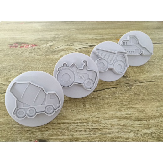 3D Construction Cookie Cutters (4 Pack)