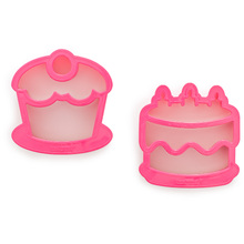 Load image into Gallery viewer, Lunch Punch Sandwich Cutters Cakes - 2 Pack