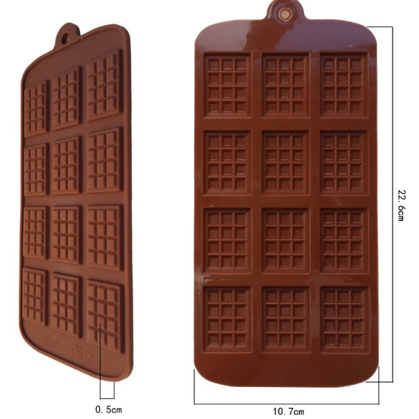 Bite Sized Chocolate Bar Silicone Tray