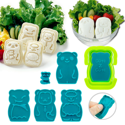 Cute Z Cute Animal Palz - Mini Sandwich Pocket & Egg Press
