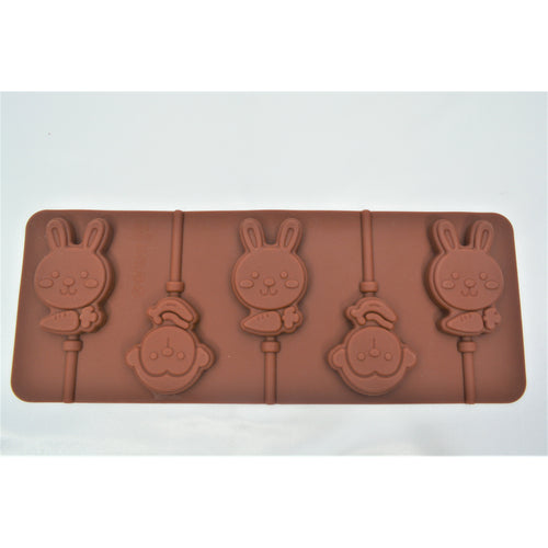 Bunny and Monkey Lollipop Silicone Tray