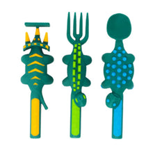 Load image into Gallery viewer, Constructive Eating - Dinosaur Cutlery