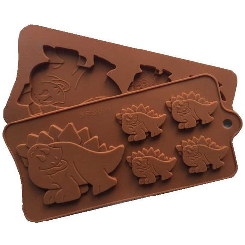 Large & Small Dinosaur Silicone Tray