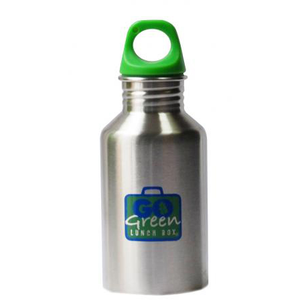 Go Green 8oz Stainless Steel Drink Bottle