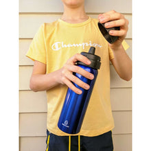 Load image into Gallery viewer, Ecococoon 600ml Stainless Steel Blue Sapphire Drink Bottle