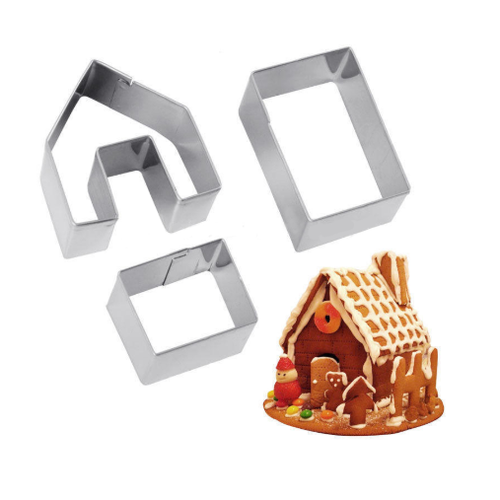3D House Stainless Steel Cookie Cutter