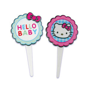 Hello Kitty Food Picks / Cupcake Toppers - 4 Pack