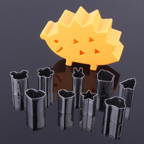 10 Piece Hedgehog Stainless Steel Fruit & Vegetable Cutter Set