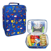 Load image into Gallery viewer, Sachi Insulated Lunch Tote - Super Heroes