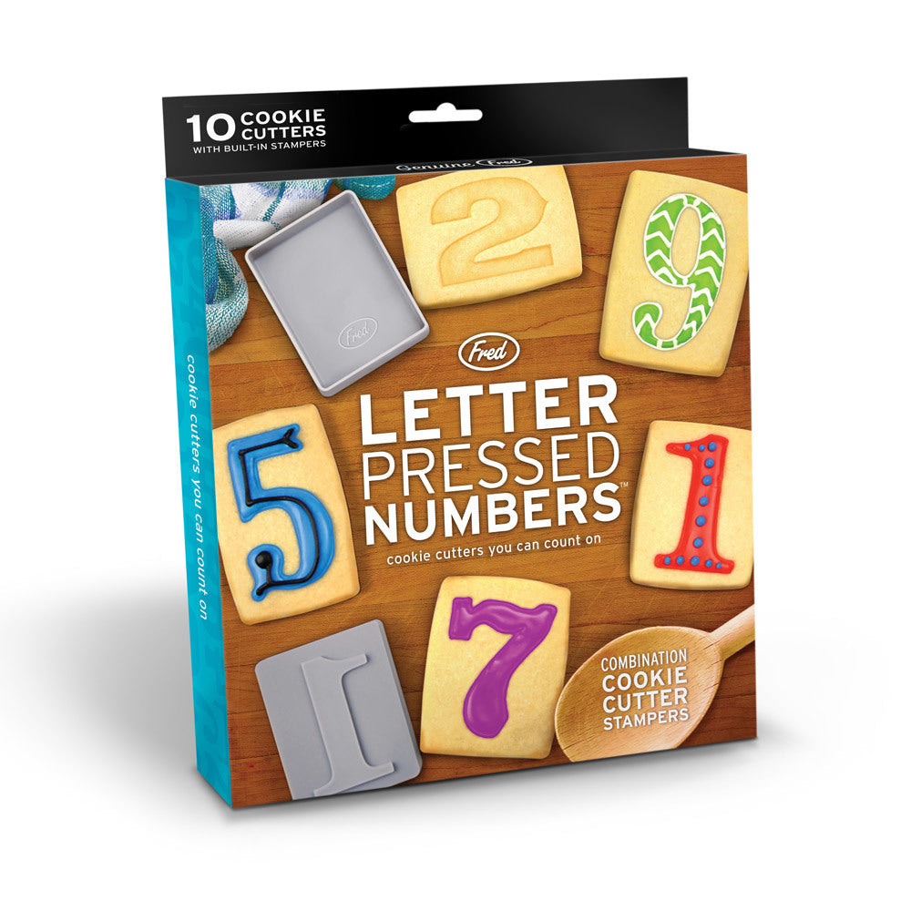 Number Pressed Cookie Cutters
