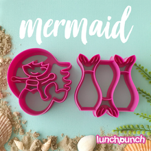 Load image into Gallery viewer, Lunch Punch Sandwich Cutters Mermaid - 2 Pack