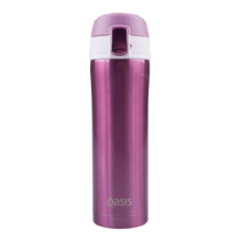 Load image into Gallery viewer, Oasis 450ml Stainless Steel Flip Top Vacuum Flask - Blush Pink