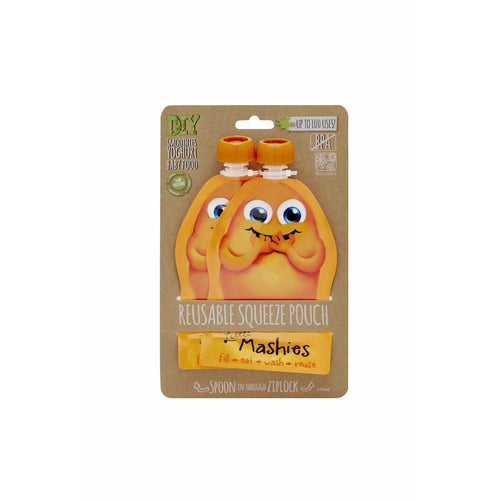 Little Mashies Reusable Food Pouches - 2 Pack Orange
