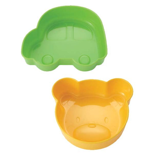Car & Bear Food Cups (Large & Thick Plastic)
