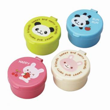 Condiments / Sauce Container with Pandas & Bunnies